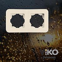 Двойная горизонтальная рамка VIKO Rollina Крем