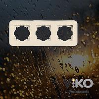 Тройная горизонтальная рамка VIKO Rollina Крем