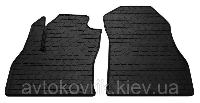 Резиновые передние коврики в салон Fiat Qubo 2008- (STINGRAY)