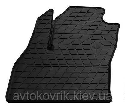 Резиновый водительский коврик в салон Fiat Qubo 2008- (STINGRAY)
