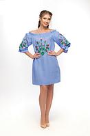 """Сукня лляна жіноча """"Квітка"""" розміри в наявності, фото 1"""