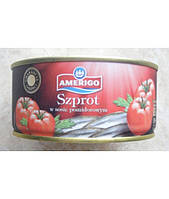 Шпроти в томатному соусі Amerigo 300гр