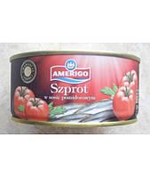 Шпроты в томатном соусе Amerigo 300гр