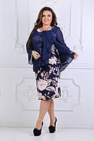 Нарядное женское платье ткань трикотаж масло +шифон, фото 1