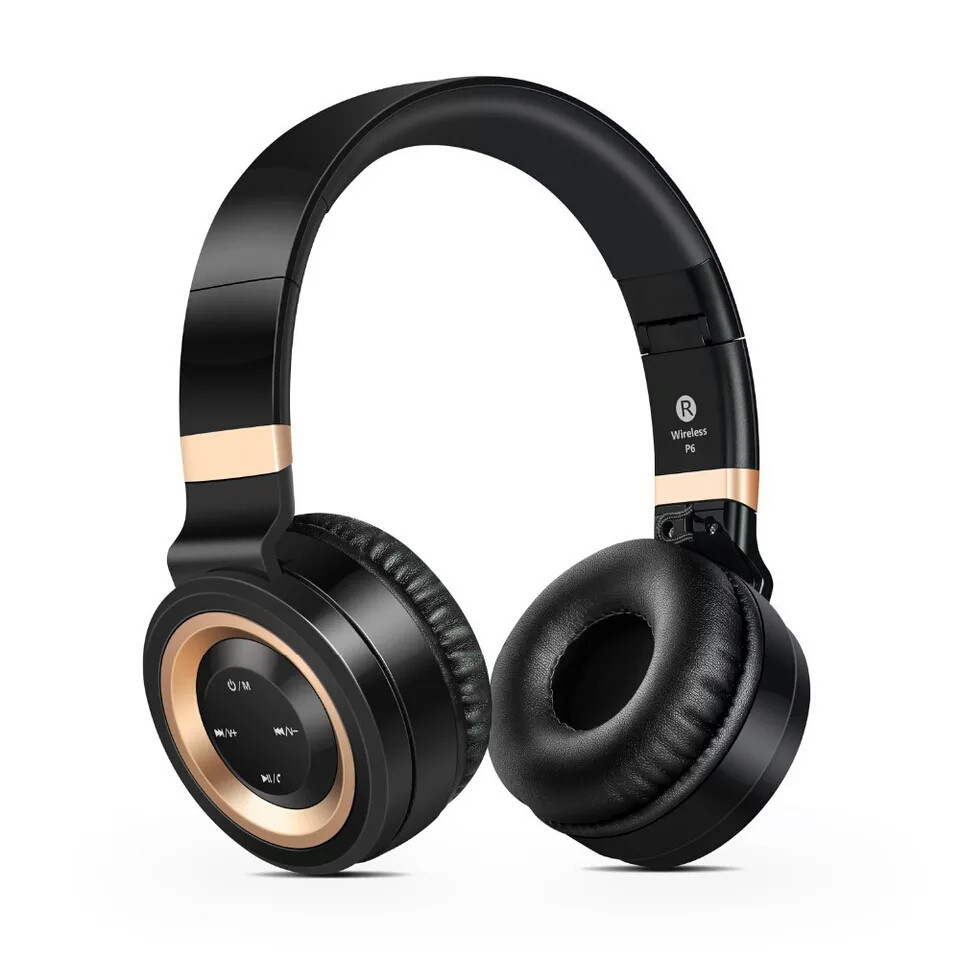 Наушники беспроводные Sound Intone P6 Black-Gold