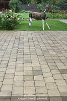 Квадрат антик (цвет на сером цементе) 9см.