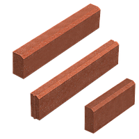 Поребрик (цветной на сером цементе) 60 мм L=0,5м, фото 1