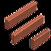 Поребрик (кольоровий на сірому цементі) 80 мм L=1м