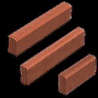 Поребрик (кольоровий на сірому цементі) 80 мм L=1м, фото 1
