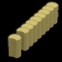 Поребрик фигурный круглый (цветной на сером цементе)