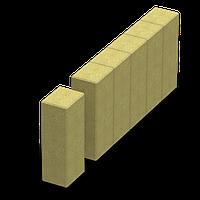 Поребрик фігурний квадратний (кольоровий на сірому цементі)