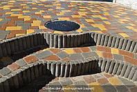 Поребрик фигурный круглый (серый), фото 1