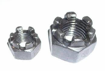 Гайка корончатая М39 ГОСТ 5918-70, DIN 935 из нержавеющей стали А2 и А4, фото 2