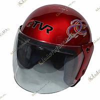 Мото шлем TVR Красный Helmet , ¾, Котелок, Круизер, Чоппер, полулицевик