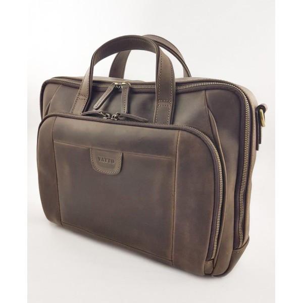 Кожаная сумка для документов и ноутбука Vatto