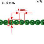 Набор Бусины Жемчуг Стекло 4мм, 6мм, 8мм, 10мм. Цвет: Темно-Зелёный, тон 71, всех размеров по 1нити, фото 6