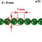 Набор Бусины Жемчуг Стекло 4мм, 6мм, 8мм, 10мм. Цвет: Темно-Зелёный, тон 71, всех размеров по 1нити, фото 8