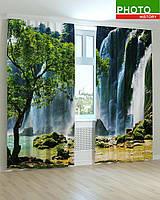Фотошторы водопад в спальню