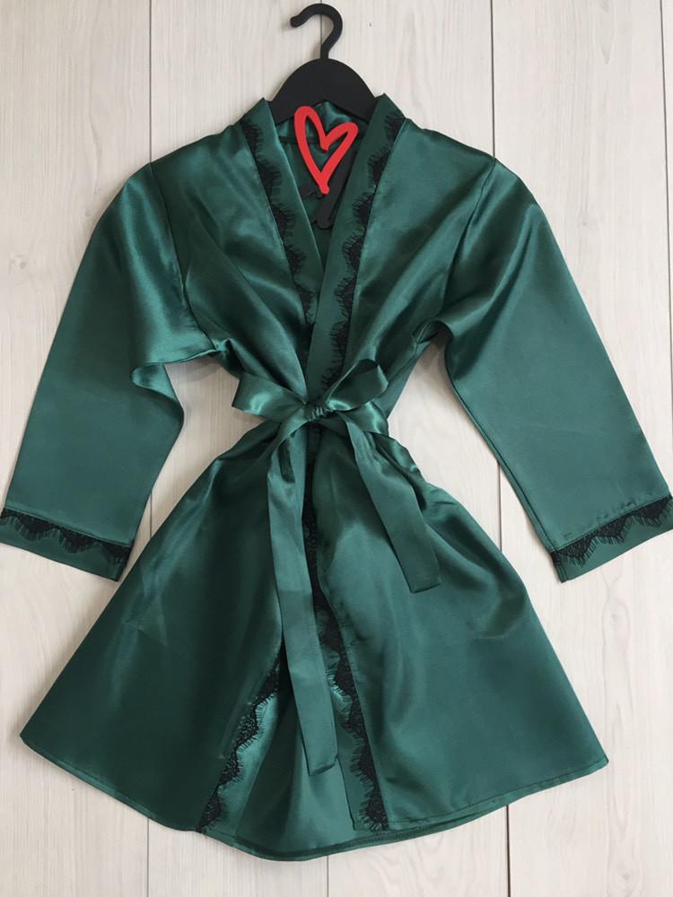 Элегантный атласный халат для дома ТМ Exclusive