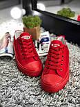 Кеды Converse All Star Женские конверс -  Red (конверсы низкие). Топ Реплика, фото 3