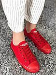 Кеды Converse All Star Женские конверс -  Red (конверсы низкие). Топ Реплика, фото 4