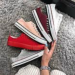 Кеды Converse All Star Женские конверс -  Red (конверсы низкие). Топ Реплика, фото 7