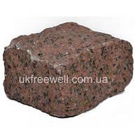 Бруківка з граніту Симоні (червона) 5Х5Х5 Доставка в будь-яку точку України.