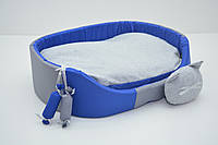 Лежак для собак и котов Комфорт лето синий