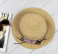 Женская оригинальная соломенная шляпа