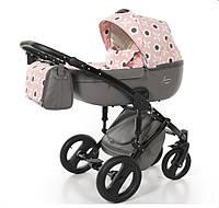 Детская универсальная коляска 2 в 1  Junama Casatto Flower 01, розовая, фото 1