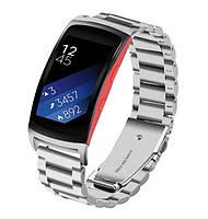 Металлический ремешок для фитнес браслета Samsung Gear Fit 2 / Fit 2 Pro (SM-R360 / R365) - Silver