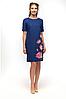 """Сукня лляна жіноча """"Квітки лотоса"""" розміри в наявності"""