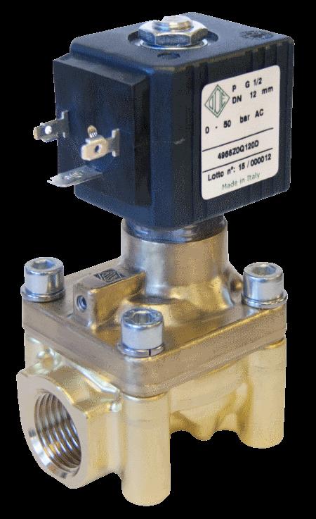 Электромагнитный клапан высокого давления до 90 bar, 4966Z0Q120D (ODE, Italy), G 1/2, Купить в Киеве