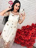 Женское платье-двойка с цветочным принтом, фото 2