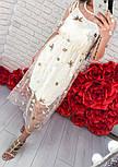 Женское платье-двойка с цветочным принтом, фото 3