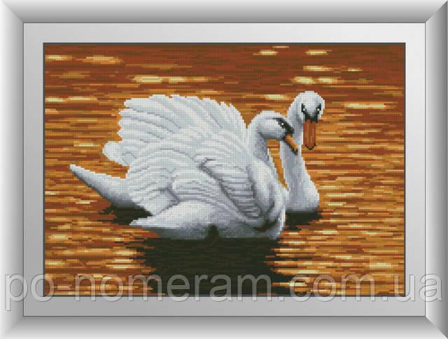 алмазная живопись лебеди