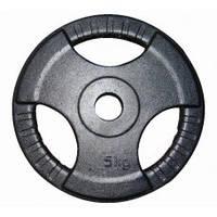 Диск (стальной) для штанги 5 кг трехлепестковый
