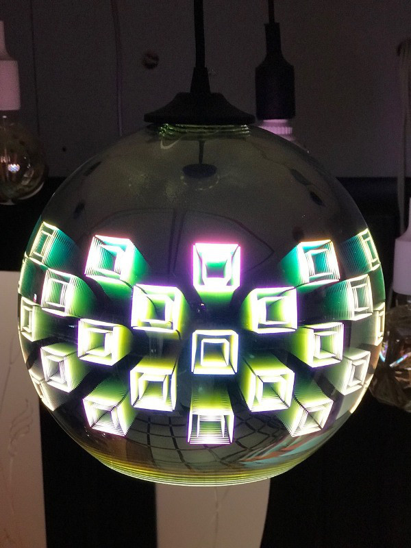 Світильник підвісний 3D SPECTRUM CHROME коло Е27 Код.59269