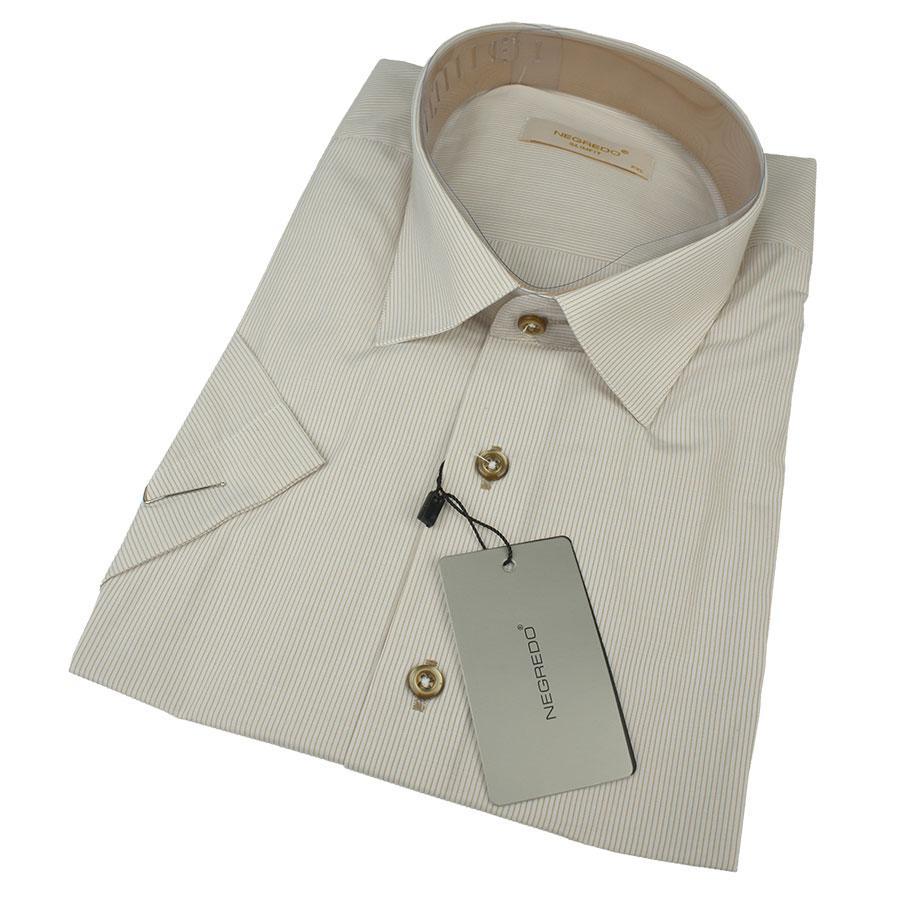 Мужская рубашка в полоску Negredo 0310 H Slim С размер М