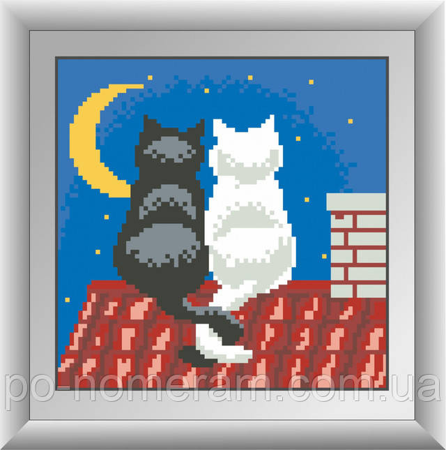 алмазная живопись две кошки