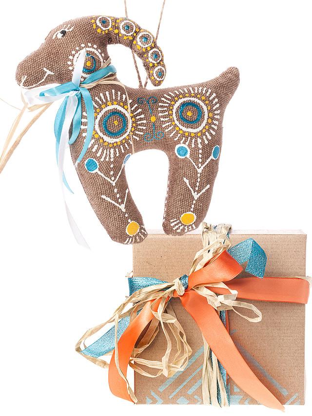 подарочный набор с игрушкой козы