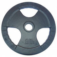 Диск (стальной) для штанги 20 кг трехлепестковый