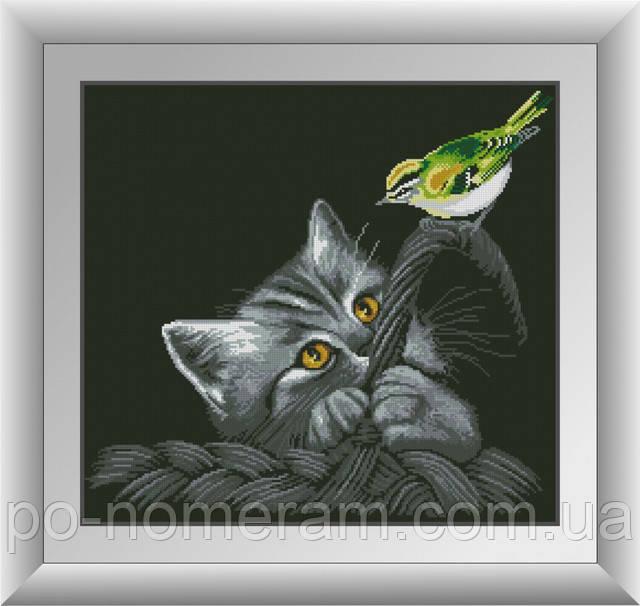 алмазная мозаика черная кошка
