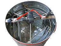 Медогонка 3-х рамочная нержавейка (Чарунка) с поворотными кассетами, фото 1