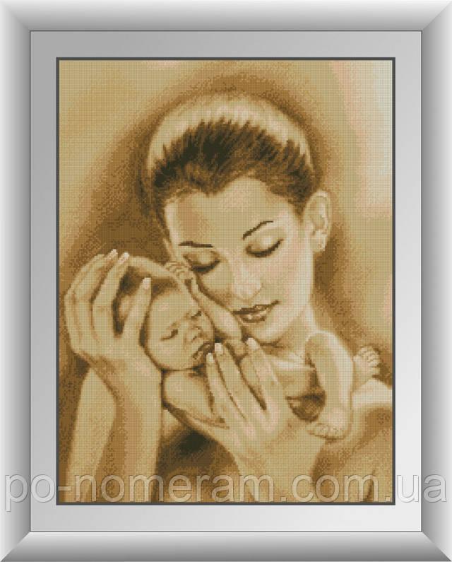 алмазная живопись мама с ребенком