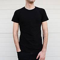 Мужская  базовая футболка  чёрная, фото 1