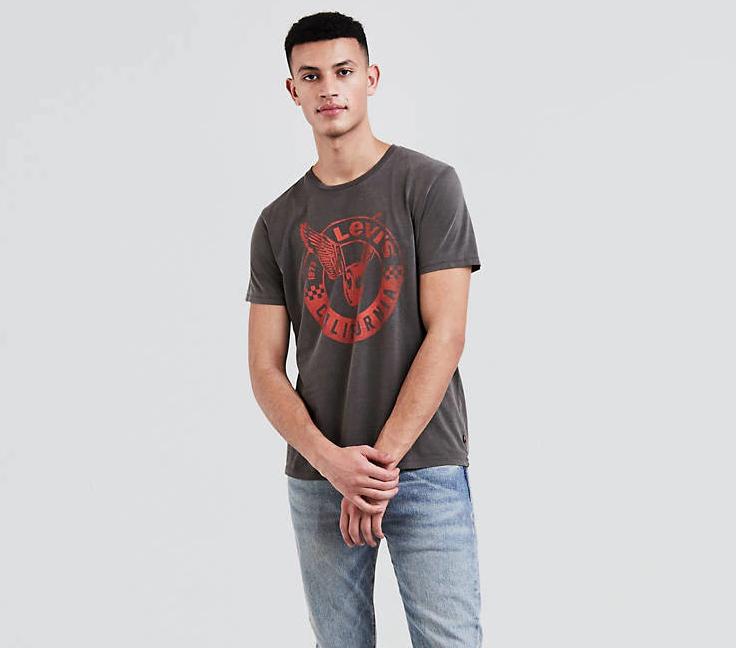 Мужская футболка Levis® Graphic Tee - Moto Circle Dark Phantom