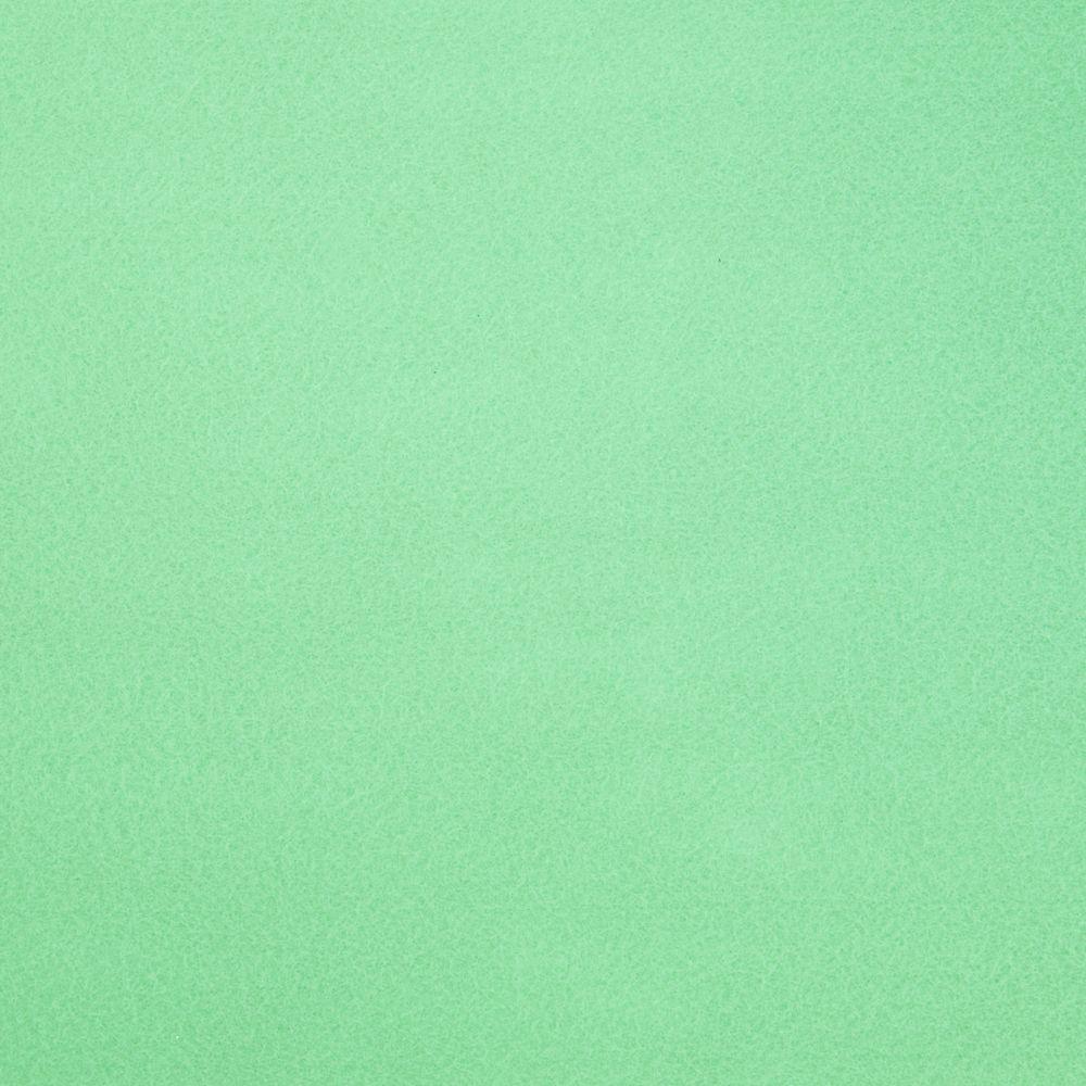 Фетр корейский мягкий 1.2 мм, 22x30 см, МЯТНО-ЗЕЛЕНЫЙ