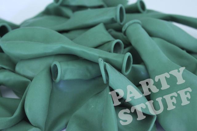 Воздушные шарики Пастель Темно-зеленый