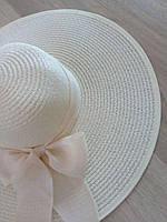 """Женская шляпа с бантом """"Иветти"""" айвори"""
